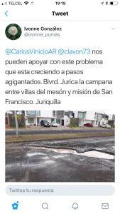 Lluvias llegan con baches y socavones a Querétaro