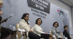 Debaten candidatas a senadoras por segunda fórmula, en Centro Universitario