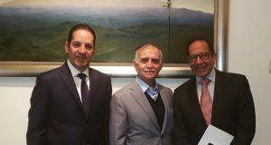 Francisco Domínguez se reúne con el jefe de la Oficina de la Presidencia y el presidente del CCE