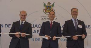 Francisco Domínguez encabezó la inauguración de la planta Externals de ITP Aero