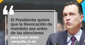 Inaceptable la propuesta del presidente para llevar a cabo la revocación de mandato: Mauricio Kuri