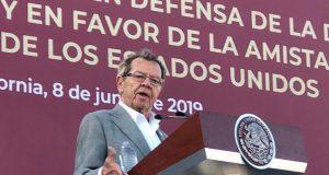 Muñoz Ledo critica doble discurso en asuntos migratorios de fronteras norte y sur