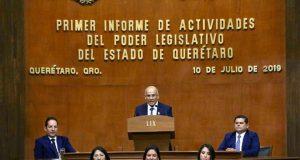 LIX Legislatura de Querétaro rinde su primer informe de actividades