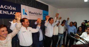 Senador Mauricio Kuri inaugura Casa de Enlace acompañado por Marko Cortés