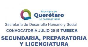 Del 15 de julio y hasta el 9 de agosto, estudiantes de secundaria, bachillerato y licenciatura, que habiten en el municipio de Querétaro, podrán inscribirse