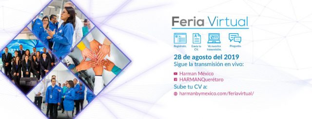 Feria de empleo Virtual de la empresa Harman este 28 de agosto